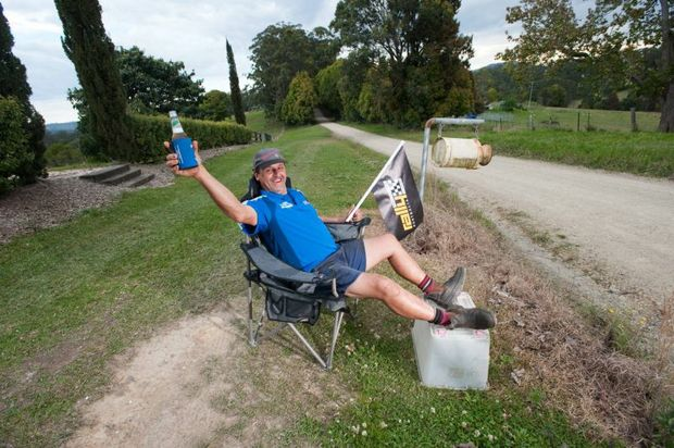 Dennis Hardaker is in prime position for Rally Australia-Coffs Coast. He can't wait for all the action past his front door tomorrow.