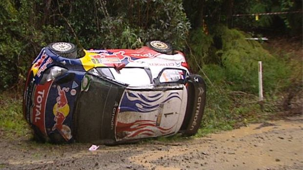 Seven time WRC champion Sebastian Loeb has accepted responsible for his crash today. Image: WRC