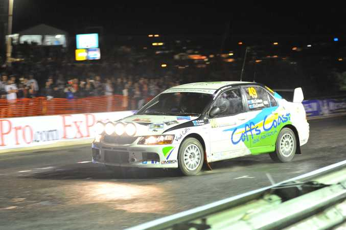 Coffs Coast Rally Team driver has proven his driving skills against the world's best in the opening superspecials of Rally Australia- Coffs Coast.