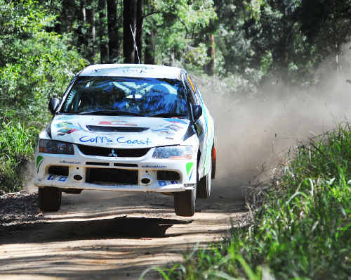 Coffs Coast Rally team driver Nathan Quinn has impressed at the World Rally Championship round on home soil finishing Rally Australia 18th overall.