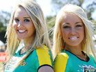 Kelsey McAlpine and Lauren O'Hagan promote a new Australian Drifting GP during Powercruise at Queensland Raceway on Saturday.