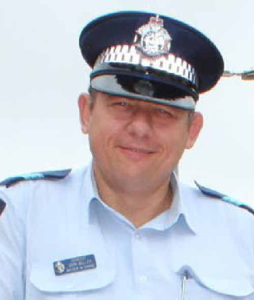 John Muller, officer-in-charge at Moranbah police station for the past five years, is about to being a new career in the mining industry as a safety officer for Arrow Energy.