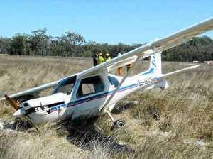 Troubled plane lands safely