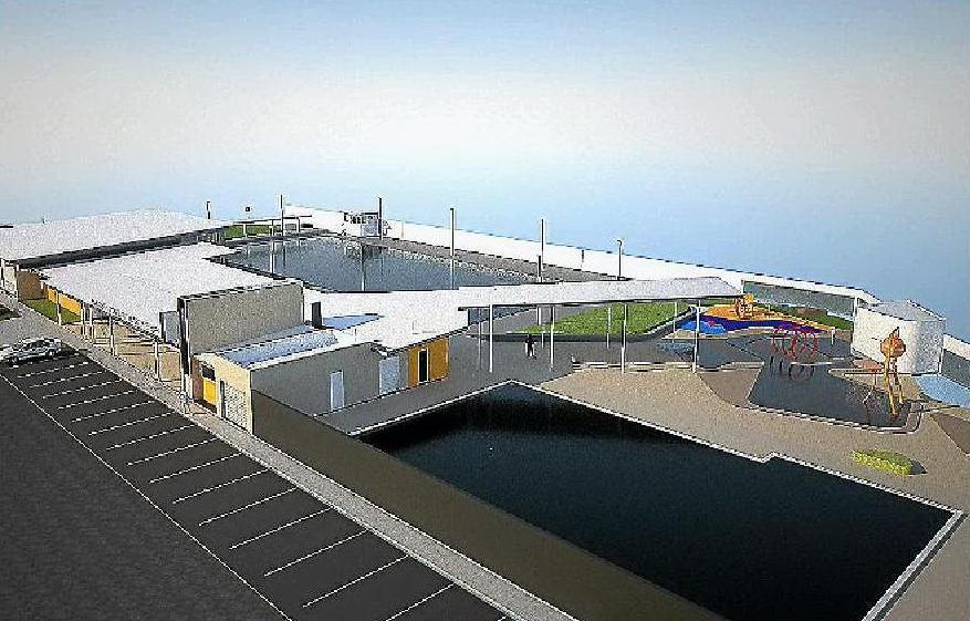 An artist's impression of the Maryborough Aquatic Centre redevelopment.
