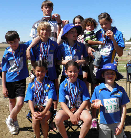 Emerald competitors at the Outback Sunset Athletics Carnival in Longreach.