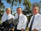 Then Prime Minister Kevin Rudd announces the Bruce Hwy upgrade with Anthony Albanese and Treasurer Wayne Swan in 2009.
