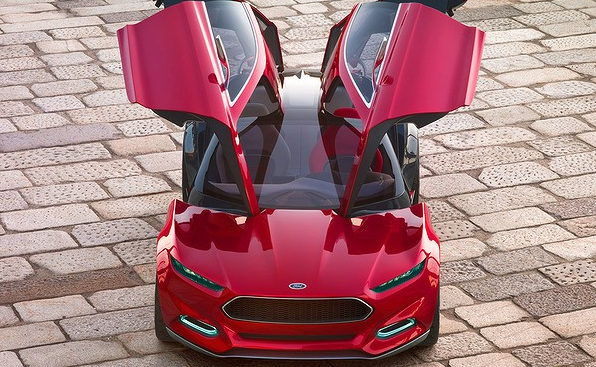 Ford's head-turning 'gullwing' Evos concept car, will make its debut at the 2011 Frankfurt motor show.