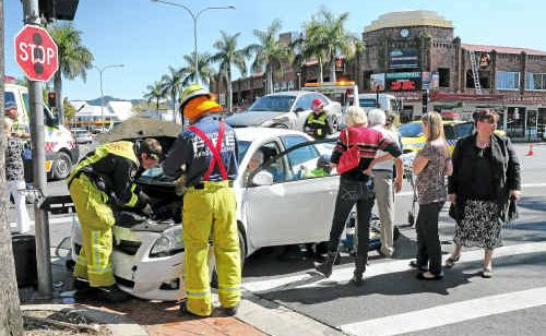 This accident in the throbbing heart of Coffs Harbour quickly became the talk of the town.