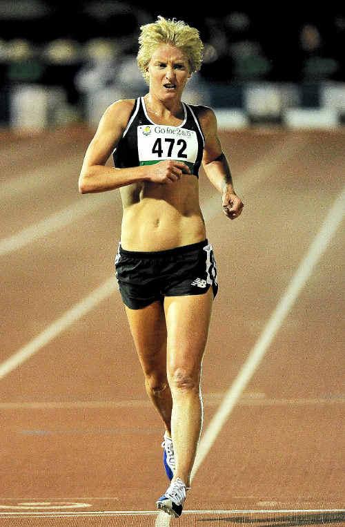 Melissa Rollison in action.
