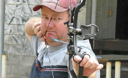 Moranbah archer Damien Ormiston lines up another bullseye.