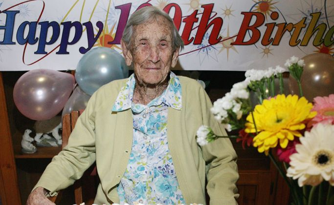 Hannah Delechantes celebrates her 100th birthday at Sunnymeade Park Aged Care and Retirement Village.