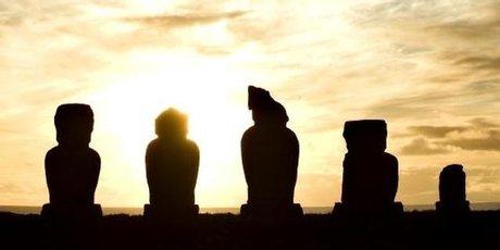 Moai each represent a special person.