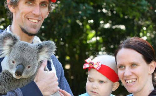 Charli Ozoux gets a break from her stay at hospital with a visit to Australia Zoo with her parents Stephen and Katie.