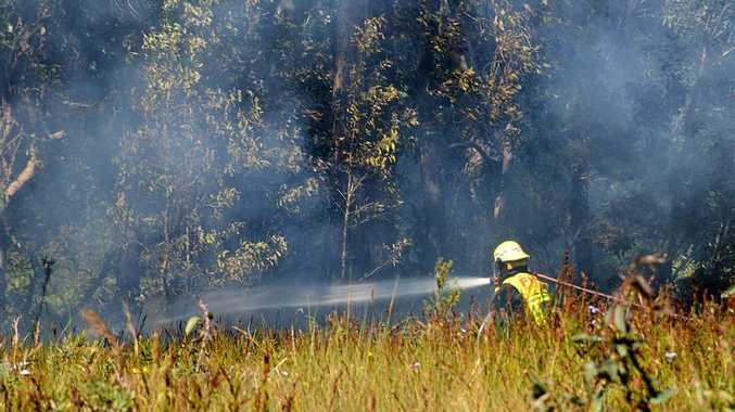 Firefighters were called to a grass fire at Toormina today.