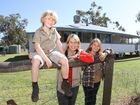 Robert, Terri and Bindi Irwin outside their homestead escape. Photo Nicholas Falconer /Sunshine Coast Daily