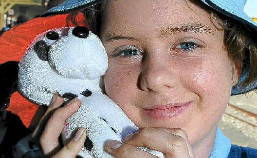 Bundaberg Special School student Samantha Welch is taking a special friend on the trip to the Solomon Islands.