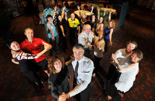 The crew of 'stars' and teachers that will compete in the Dancing With Coffs Coast Stars event.