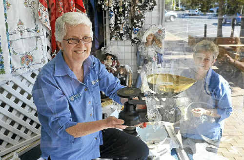 President of Grafton Vinnies Centre Pauline Grant and volunteer Helen Power set up the Vinnies Spring Splendour sale, which will start on Saturday.