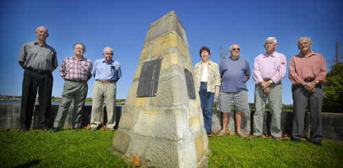 Mark Andrews, Des Keynes, Rex Oxenford, Elaine Boothby, Ray Tobin, Neil Morris and Bruce Gleeson want the sandstone monument in Grafton's Memorial Park, which is dedicated to 13 young cub scouts killed in a ferry accident in 1943, to be upgraded and properly maintained.