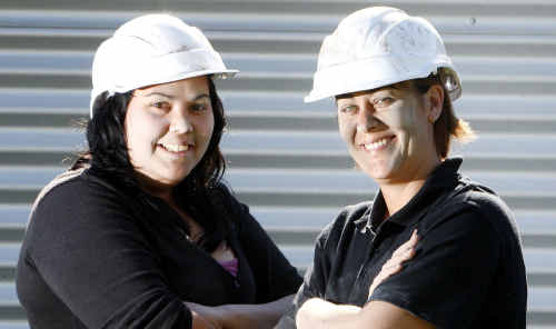 Lani Walker and Jacqui Stringer are keen to hear about how they can secure a job in the mining industry.