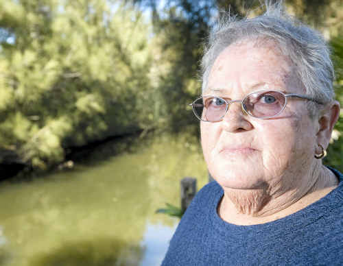 Pam Clarke of North Lakes Estate in Ballina is upset that Ballina Council refused to return to clean up rotting fish that died in a canal behind her home. Council removed the surface fish but are restricted from doing more by health and safety regulations.