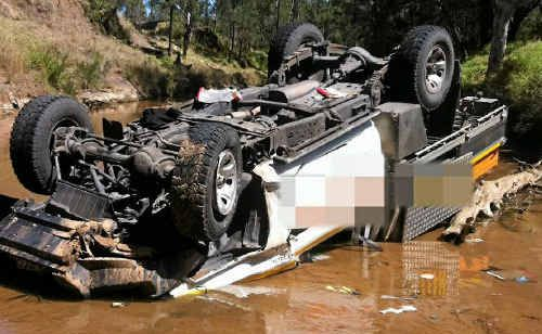 SO CLOSE: Mr Mugliett believes it was his well constructed ute and his driver training that saved his life.