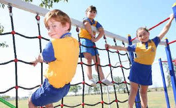 Chelona State School students, including Year 3 pupils Thomas Camp, Shay Rollino and Elise Crewe, have shown improvement in the NAPLAN tests. Within the Mackay region Year 3 students have improved across the board.