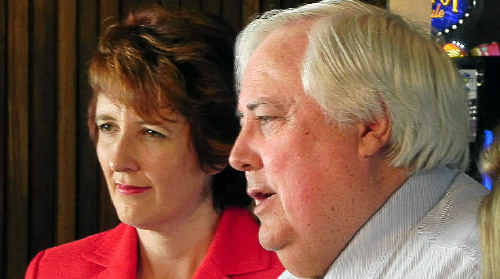 Queensland's six billion dollar man Clive Palmer speaks at a LNP breakfast hosted by Maroochydore MP Fiona Simpson.