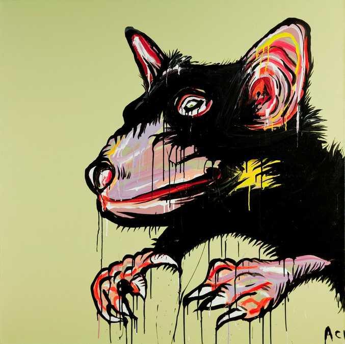 Adam Cullen's latest Tassie Devil artwork.
