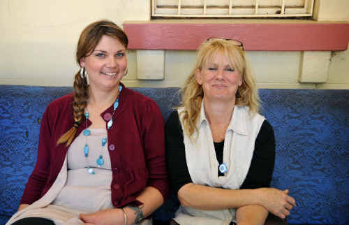 New Street Cruise youth worker Claudia Woodbridge, with youth services co-ordinator Colleen Kennedy, has been organising activities for youths in the Clarence Valley.