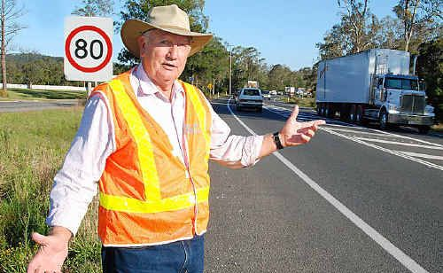 Larry Friske is among Gympie Region councillors keen for urgent progress on the Bruce Hwy's Gympie by-pass.