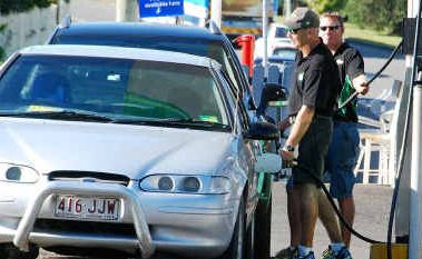 Gympie drivers fill up at BP West ahead of the school holidays. Brisbane prices soared while prices in Gympie remained stable.