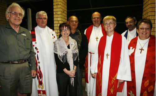 Reverend Suzy with other ministers at her Service of Welcome.