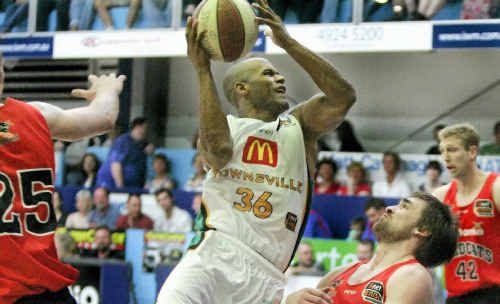 Townsville Crocodiles guard Eddie Gill had an unhappy visit to Hegvold Stadium on Saturday night in the opening match of the NBL Sunshine State Challenge.