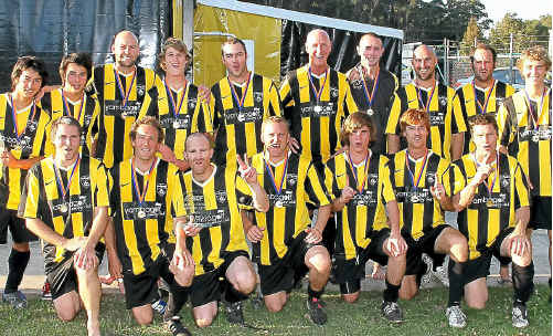 Yamba Yellow claimed the second division premiership on Saturday at BCU international stadium at Coffs Harbour after defeating the Woolgoolga Dolphins 3-0.