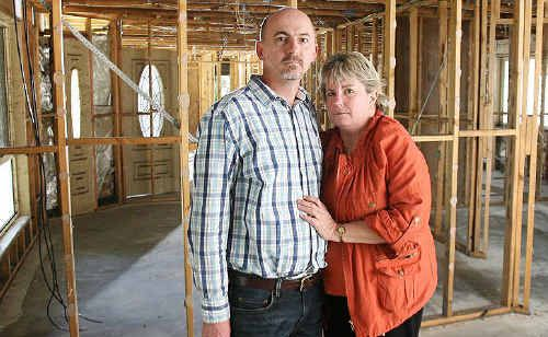 Teresa and Tom Bliesner are still not back in their flooded Karalee home despite being insured with ANZ.