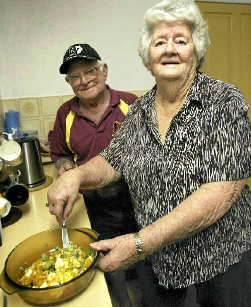 Pensioners Charlie and Bess Harris say surviving on a pension means cutting back on things.