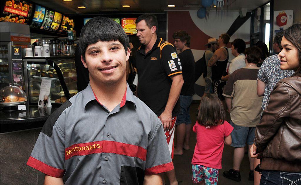 Paul Rahme, 19, works at McDonalds.