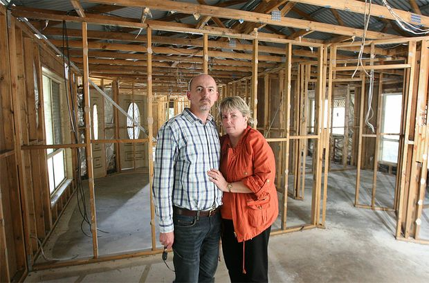 Flood victims Teresa and Tom Bliesner are a long way off being back in their home despite being insured.