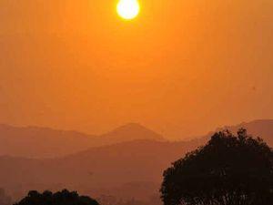 Handful of fires causes smoke haze over Coffs Coast