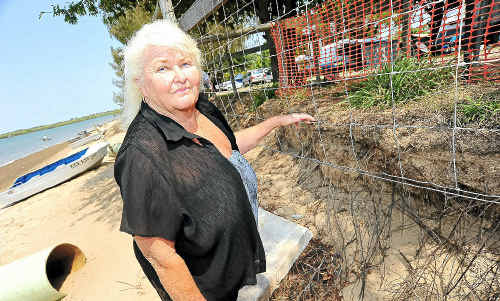 Miara Holiday Park regular Kay Watts and over 200 other holiday-makers are extremely upset about the severity of beach erosion.