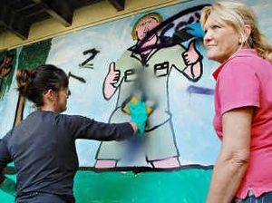 Holiday vandals spray school