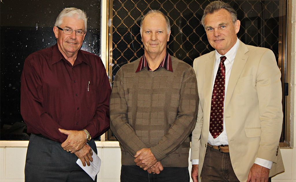 Graham Engeman, Greg Langdon and Lars Hedberg are members of the Gympie Show committee.