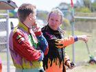 Kawana MP Jarrod Bleijie and Caloundra MP Mark McArdle discuss monster truck tactics at Kawana today. Picture: Cade Mooney