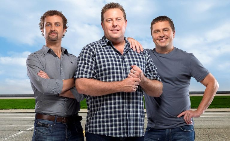 Top Gear Australia hosts Steve Pizzati, Shane Jacobson and Ewen Page.