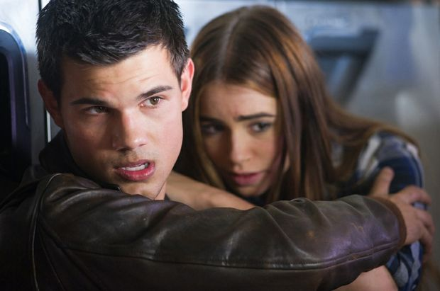 Taylor Lautner, star of the new film Abduction, is still stuck in the