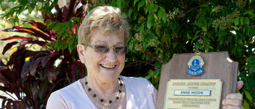 Anne Moon was recognised for her charity work with two prestigious awards.