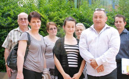 Donna and Terry Saunders with daughter Jamie and family at the Rockhampton courthouse this week.