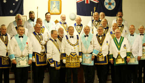 Springsure Masonic Lodge installed Pat Kooyman (centre) as the new worshipful master last Saturday.
