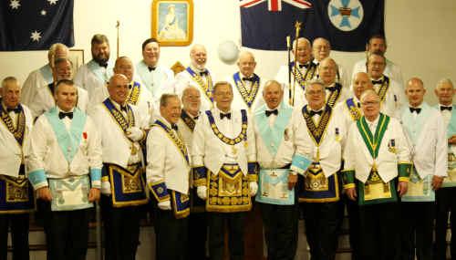 Springsure Masonic Lodge installed Pat Kooyman (centre) as the new worshipful master last Saturday.
